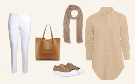 چگونه لباسهای خاکی رنگ را ست کنیم؟