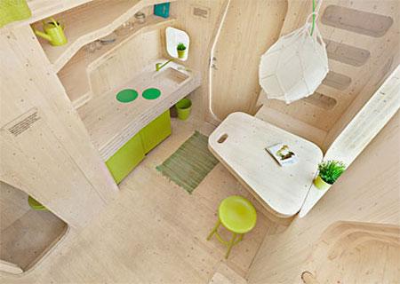 طراحی خانه دانشجویی, طراحی خانه 30 متری