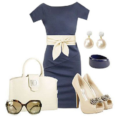 ست کردن لباس سورمه ای , نحوه ست کردن لباس سورمه ای