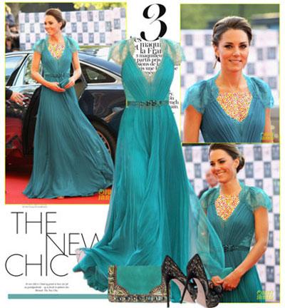 ست لباس شب کیت میدلتون,لباس شب Kate Middleton
