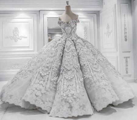 زیباترین طراحی لباس عروس,لباس عروس