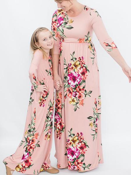 ست پیراهن گلدار مادر و دختر,ست پیراهن مادر دختری