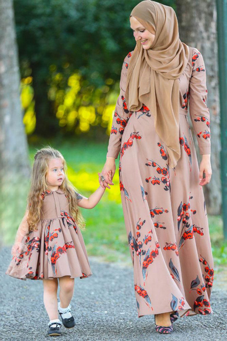 ست پیراهن رسمی مادر و دختر,جدیدترین پیراهن های مادر و دختر