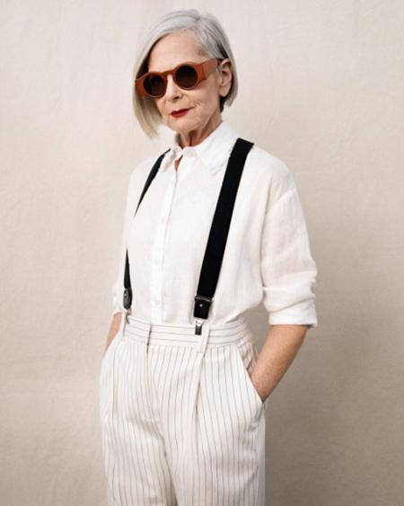لباس پوشیدن کهنسال ترین مدل زن,تصاویر کهنسال ترین مدل زن