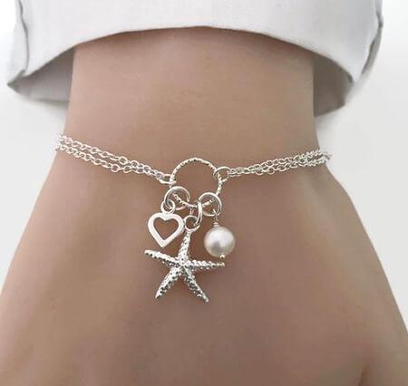 مدل دستبند مروارید,جدیدترین مدل دستبند مروارید,دستبند مروارید زنانه