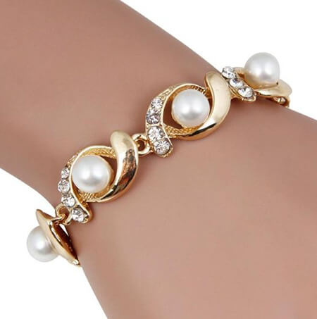 دستبند مروارید دخترانه, دستبند مروارید زنانه, مدل دستبند مرواریدی