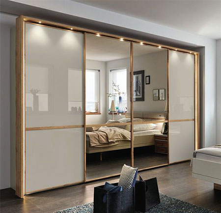 مدل کمد دیواری ریلی آینه ای,مدل کمد دیواری ریلی اتاق خواب کوچک