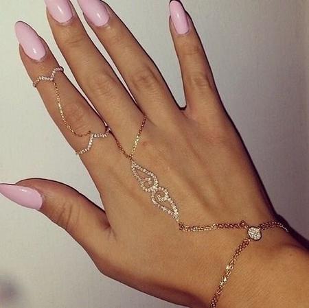 دستبند انگشتری نگین دار,دستبند انگشتری نگینی