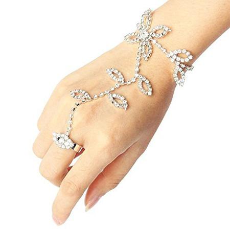 مدل دستبند انگشتری,دستبند انگشتری نگین دار