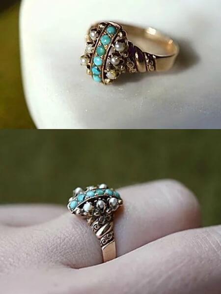 مدل انگشترهای فیروزه, جدیدترین مدل انگشترهای فیروزه زنانه, طرح های انگشتر فیروزه زنانه