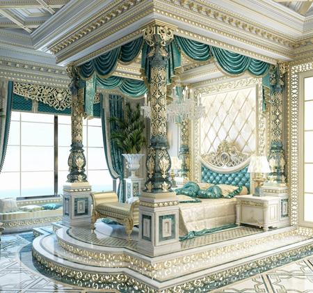 دکوراسیون و چیدمان اتاق خواب های سلطنتی, طراحی اتاق خواب های سلطنتی