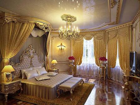 اتاق خواب های سلطنتی, دکوراسیون اتاق خواب های سلطنتی