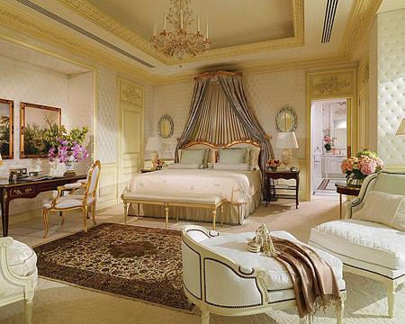 دکوراسیون اتاق خواب های سلطنتی, دکوراسیون و چیدمان اتاق خواب های سلطنتی