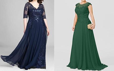 مدل لباس مجلسی برای افراد قد کوتاه,مدل لباس مجلسی گیپور برای افراد چاق