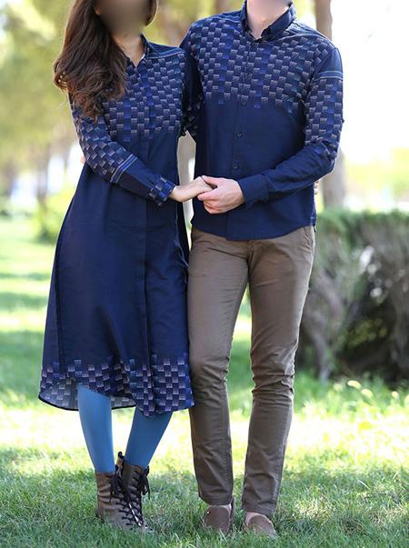 مدل مانتو و پیراهن زن و شوهر,مدل ست لباس زن و شوهر