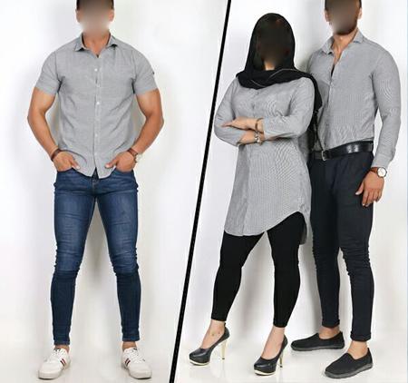 ست های مانتو و پیراهن زن و مرد,جدیدترین ست لباس زن و مرد
