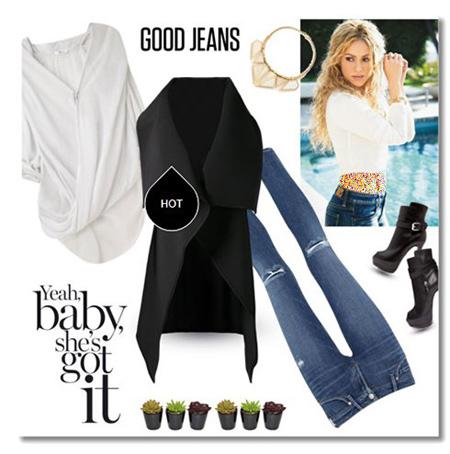 ست های پاییزی شلوار جین,اصول و نحوه ست کردن لباس به سبک شکیرا
