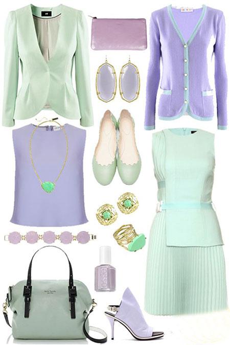 ست های سبز پاستیلی, ست لباس با رنگ سبز پاستیلی