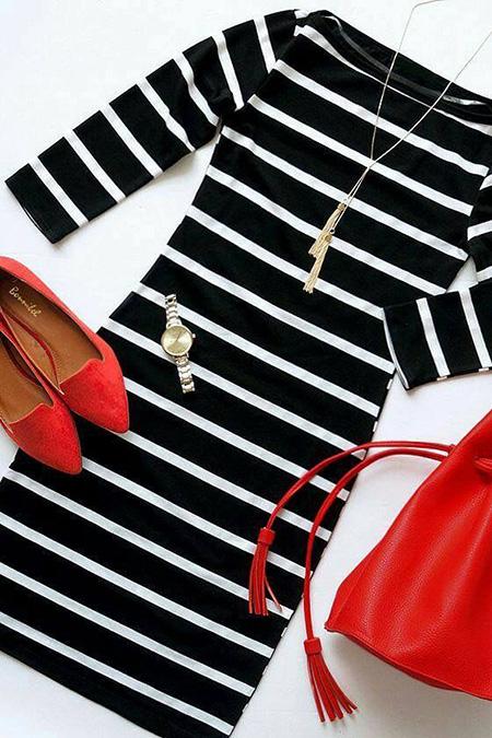 ست های مناسب با کفش قرمز, استایل های های شیک با کفش قرمز