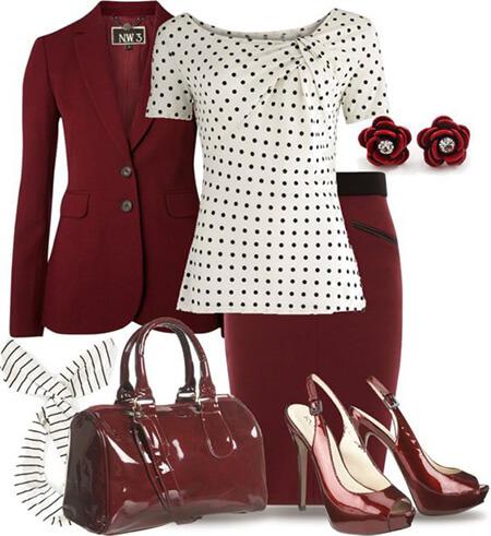 اصول ست کردن با لباس خالدار,پوشیدن لباس خالدار,انواع ست ها با تاپ خالدار
