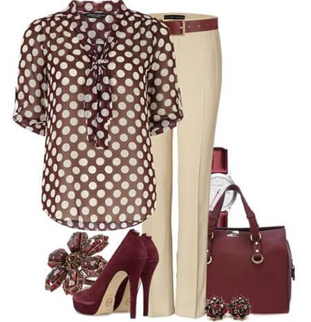 ست کردن با لباس خالدار,اصول ست کردن با لباس خالدار,پوشیدن لباس خالدار