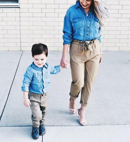 تصاویر ست های مادر و پسر, ست مانتو مادر و پسری