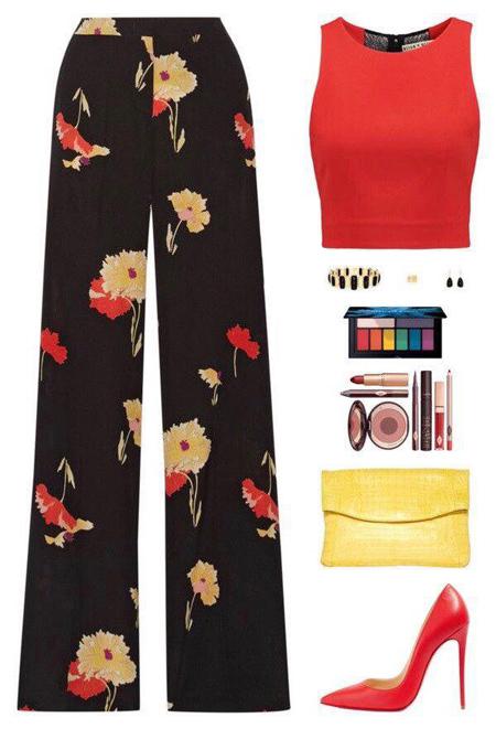ست کردن با شلوار گلدار زنانه,راهنمای ست کردن لباس