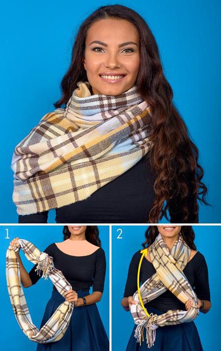بستن روسری, مدل های بستن شال و روسری