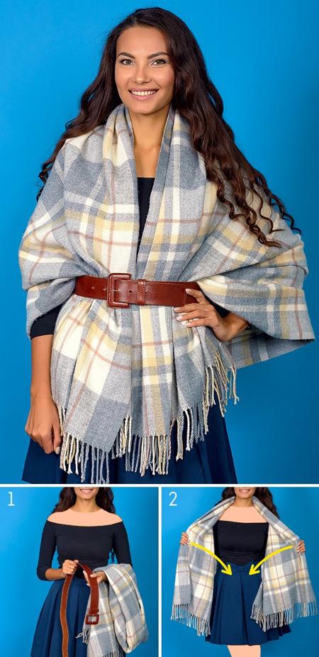 مدل بستن شال و روسری,گره های مناسب بستن شال و روسری