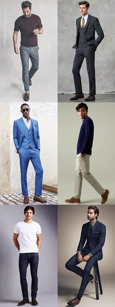 ست کردن رنگ کفش با لباس,ست کردن رنگ کفش با لباس مردانه