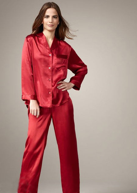 عکس لباس خواب,مدل لباس خواب زنانه,لباس خواب قرمز زنانه