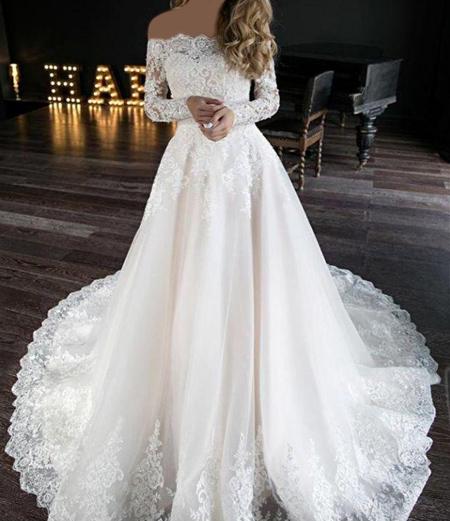لباس عروس آستین دار, طراحی لباس عروس