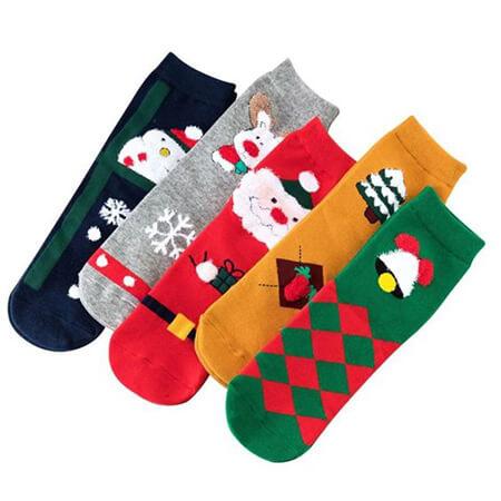 جوراب های مناسب کریسمس,جوراب با طرح کریسمس