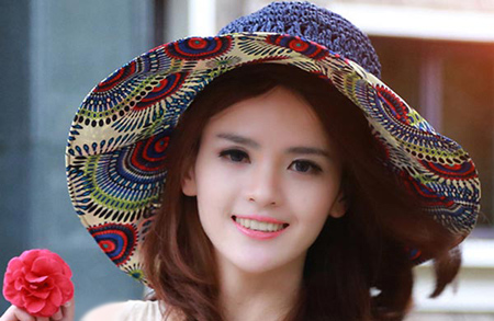 کلاه تابستاني, مدل کلاه آفتابي دخترانه