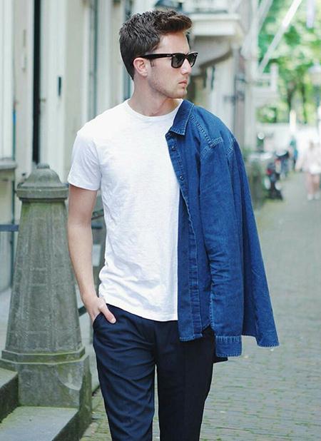نحوه پوشیدن تیشرت مردانه, طرز پوشیدن تیشرت مردانه