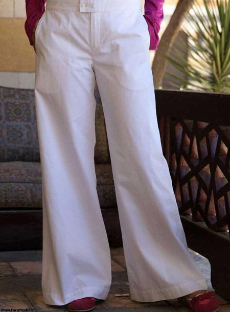 مدل شلوار تابستانی زنانه,جدیدترین مدل شلوار تابستانه,شلوار سفید