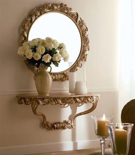طراحی شمعدان های دیواری,مدل آینه و شمعدان دیواری
