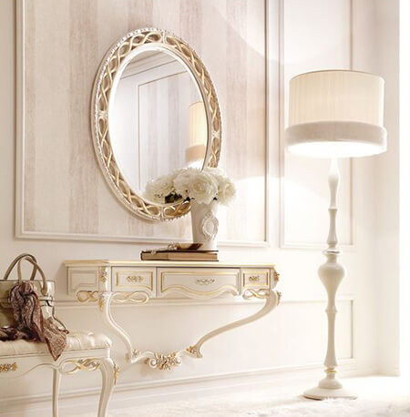 مدل آینه و کنسول دیواری, مدل های آینه و شمعدان دیواری