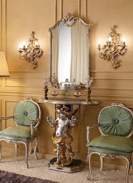 آینه و کنسول دیواری, شیک ترین آینه و شمعدان دیواری