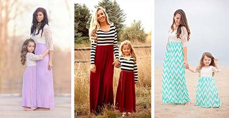ست پوشیدن مادر و دختر,طرز ست پوشیدن مادر و دختر