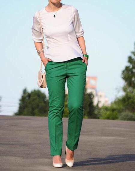 ست کردن با شلوار سبز,راهنمای ست کردن با شلوار سبز