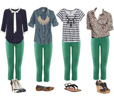 اصول ست کردن با شلوار سبز, مهارت های ست کردن با شلوار سبز