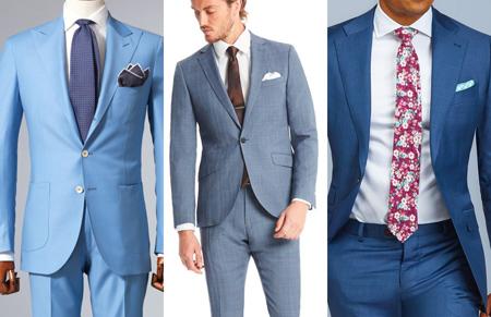 کت و شلوار آبی,لباس پوشیدن با کت و شلوار آبی کمرنگ
