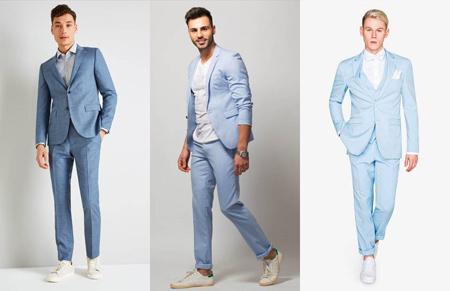 کت و شلوار آبی کمرنگ,راهنمای پوشیدن کت و شلوار آبی