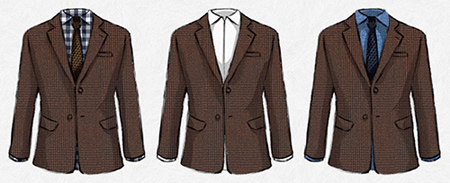 پوشیدن کت قهوه ای برای آقایان,نحوه پوشش کت قهوه ای