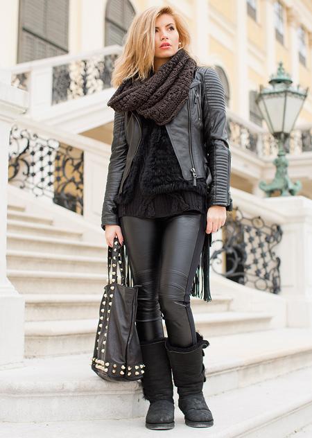 اصول و نحوه پوشش کت های چرم زنانه,راهنمای انتخاب و پوشیدن کت چرم زنانه