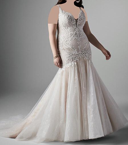 مدل لباس عروس برای افراد چاق, لباس عروس برای افراد چاق, لباس عروس خانم های چاق
