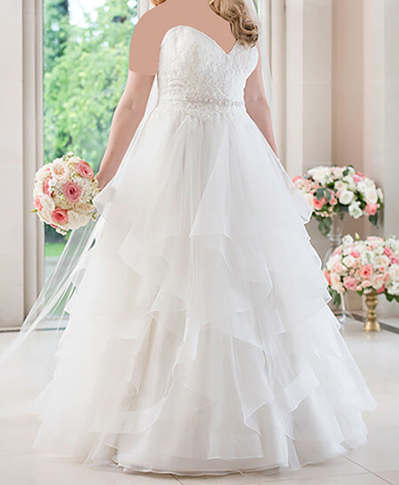 ایده هایی برای لباس عروس خانم های چاق,شیک ترین مدل لباس عروس برای افراد چاق,مدل لباس عروس خانم های درشت اندام