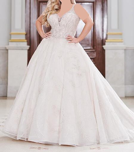 مدل لباس عروس برای افراد چاق,لباس عروس خانم های چاق,ایده لباس عروس برای افراد چاق