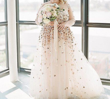 لباس عروس خانم های چاق, مدل لباس عروس برای خانم های چاق, ایده لباس عروس برای افراد چاق